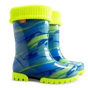 Twister lux print fluo D  (Резиновые сапоги для детей. Демар)