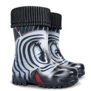 Twister lux print Зебра  (Резиновые сапоги для детей. Демар)